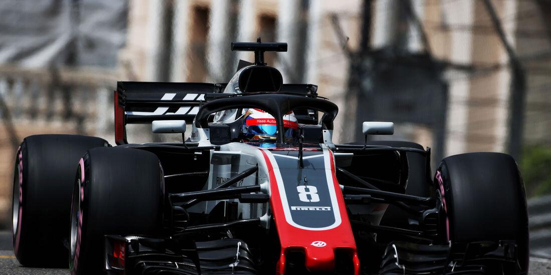 Romain Grosjean - HaasF1 - GP Monaco - Formel 1 - Donnerstag - 24.5.2018