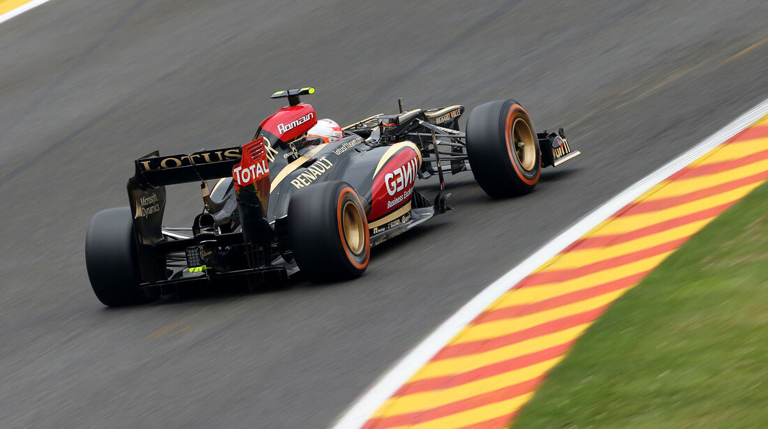 Romain Grosjean - Lotus - Formel 1 - GP Belgien - Spa Francorchamps - 23. August 2013