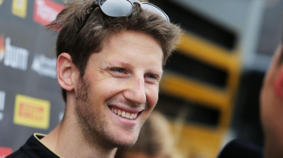 Romain Grosjean - Lotus - Formel 1 - GP England - Silverstone - 3. Juli 2014