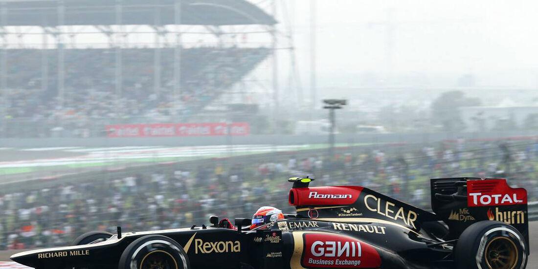 Romain Grosjean - Lotus - Formel 1 - GP Indien - 27. Oktober 2013