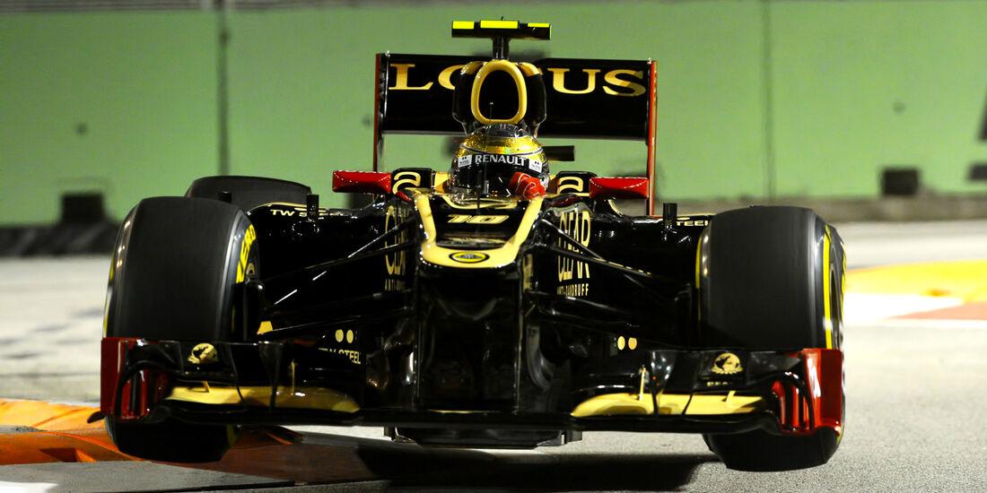 Romain Grosjean - Lotus - Formel 1 - GP Singapur - 22. September 2012