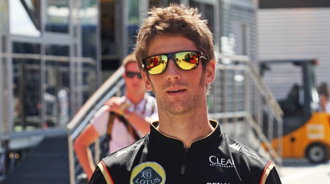 Romain Grosjean - Lotus - Formel 1 - GP Ungarn - 24. Juli 2014
