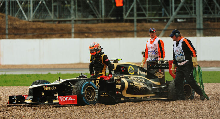 Romain Grosjean Lotus GP England 2012