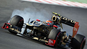 Romain Grosjean Verbremser GP Korea 2012