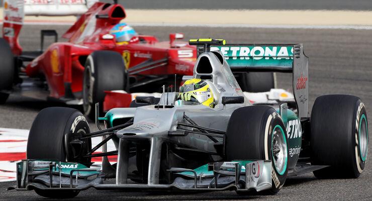 Rosberg Alonso GP Bahrain 2012