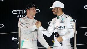 Rosberg & Hamilton - Formel 1 - GP Abu Dhabi 2016
