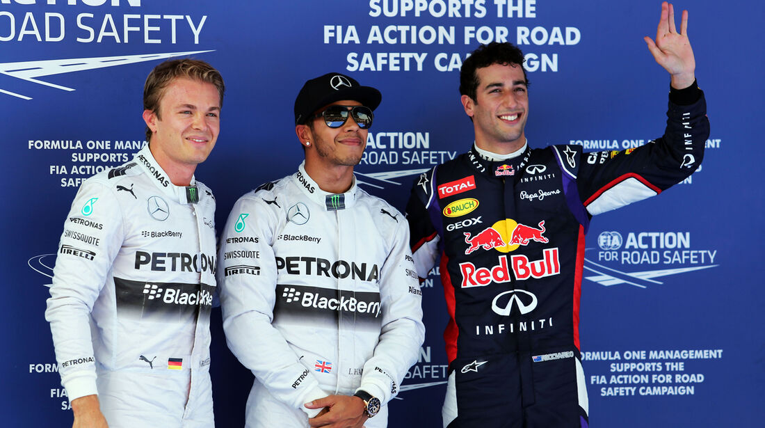 Rosberg, Hamilton & Ricciardo - Red Bull - Formel 1 - GP Spanien - Barcelona - 10. Mai 2014