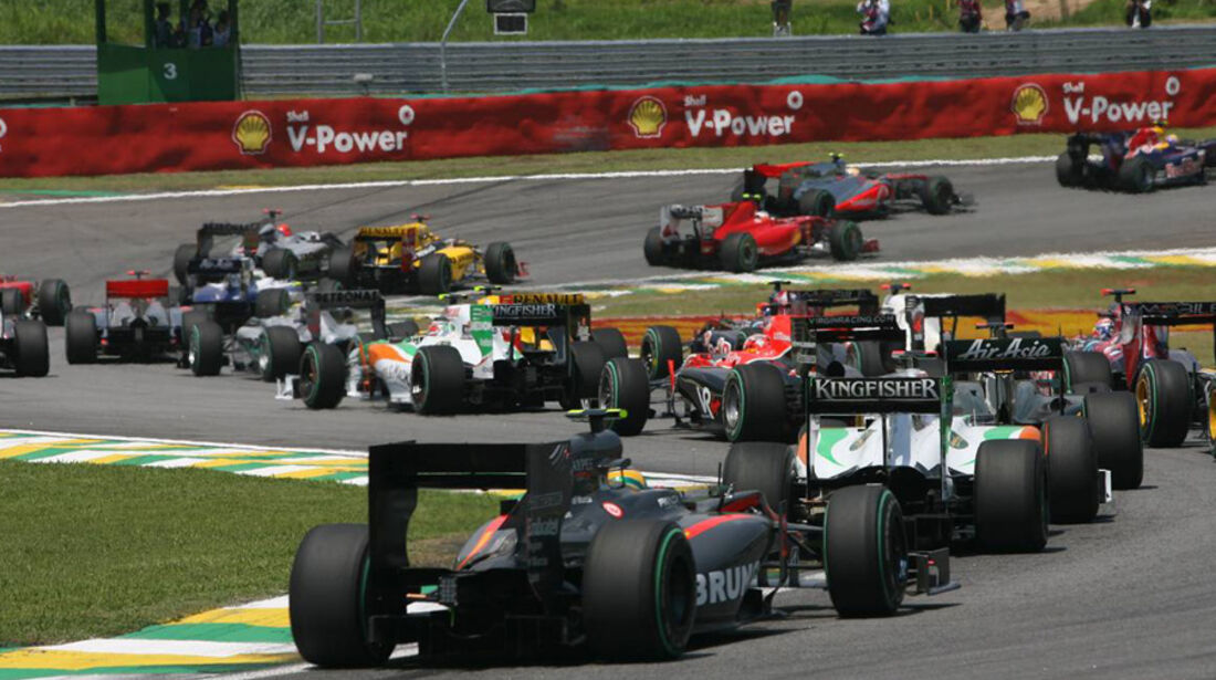 Rosberg Kobayashi GP Brasilien 2010