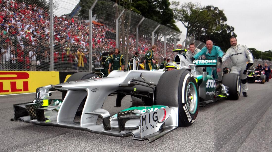 Rosberg Mercedes GP Brasilien 2012