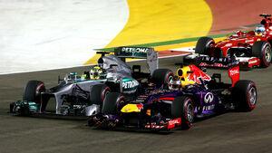 Rosberg & Vettel - GP Singapur 2013