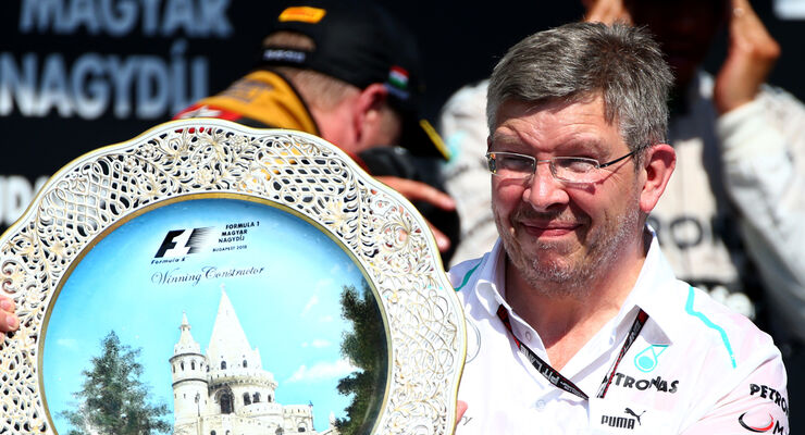 Ross Brawn Mercedes - GP Ungarn 2013