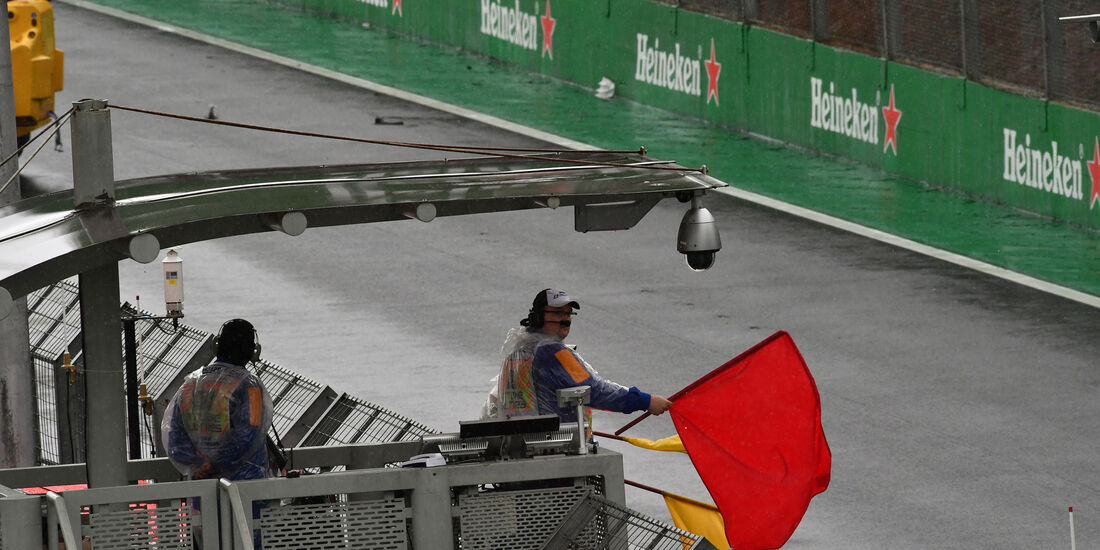Rote Flagge - Rennunterbrechung - GP Brasilien 2016 - Interlagos - Rennen