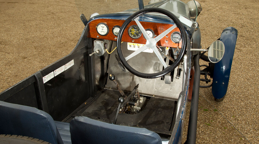 Salmson 9AD, Cockpit, Lenkrad