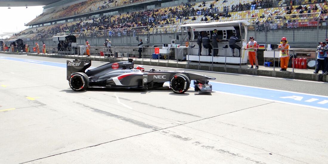 Sauber - Formel 1 - GP China - 12. April 2013