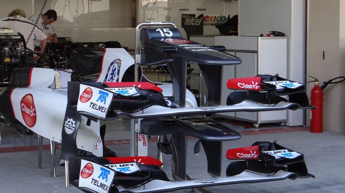 Sauber Frontflügel  - Formel 1 - GP Abu Dhabi - 01. November 2012