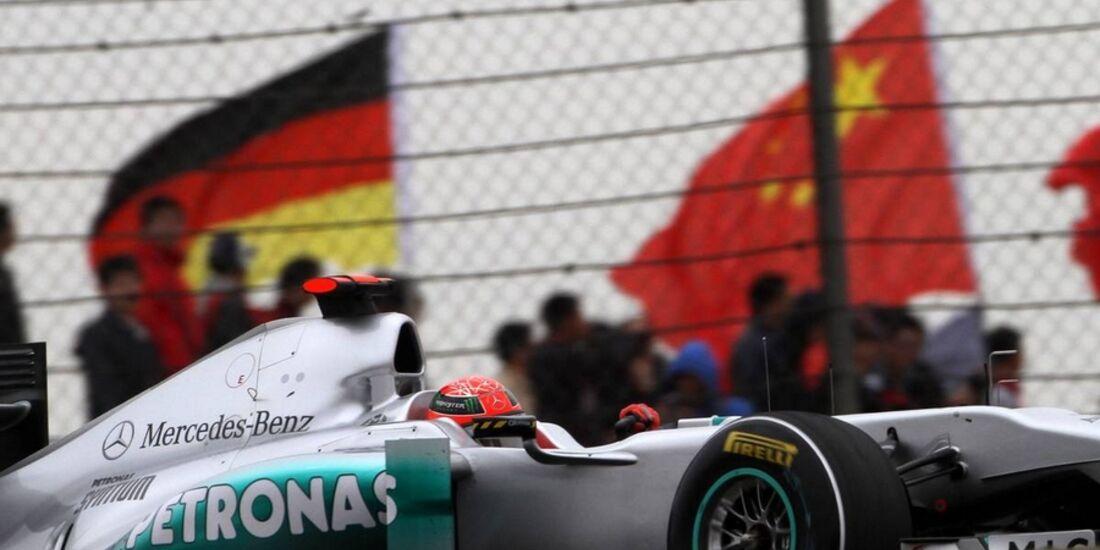 Schumacher Formel 1 GP China 2011