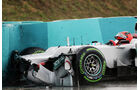 Schumacher GP Ungarn F1 Crashs 2012