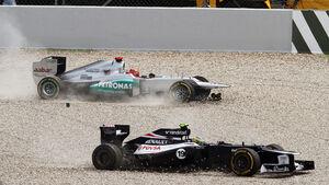 Schumacher & Senna F1 Fun Pics 2012