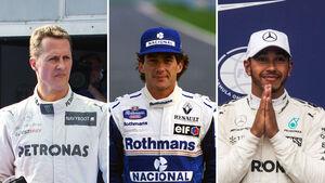 Schumacher, Senna & Hamilton - Collage
