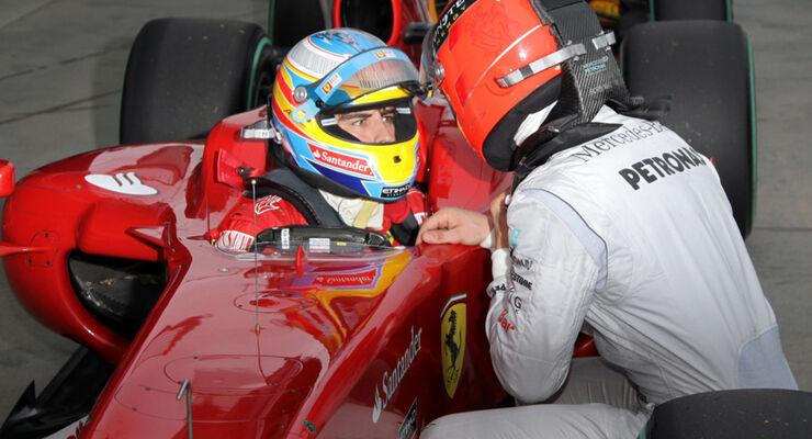 Schumacher und Alonso