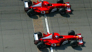 Schumacher und Barrichello - Indianapolis 2002