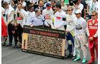 Schweigeminute - Formel 1 - GP Brasilien- 15. November 2015