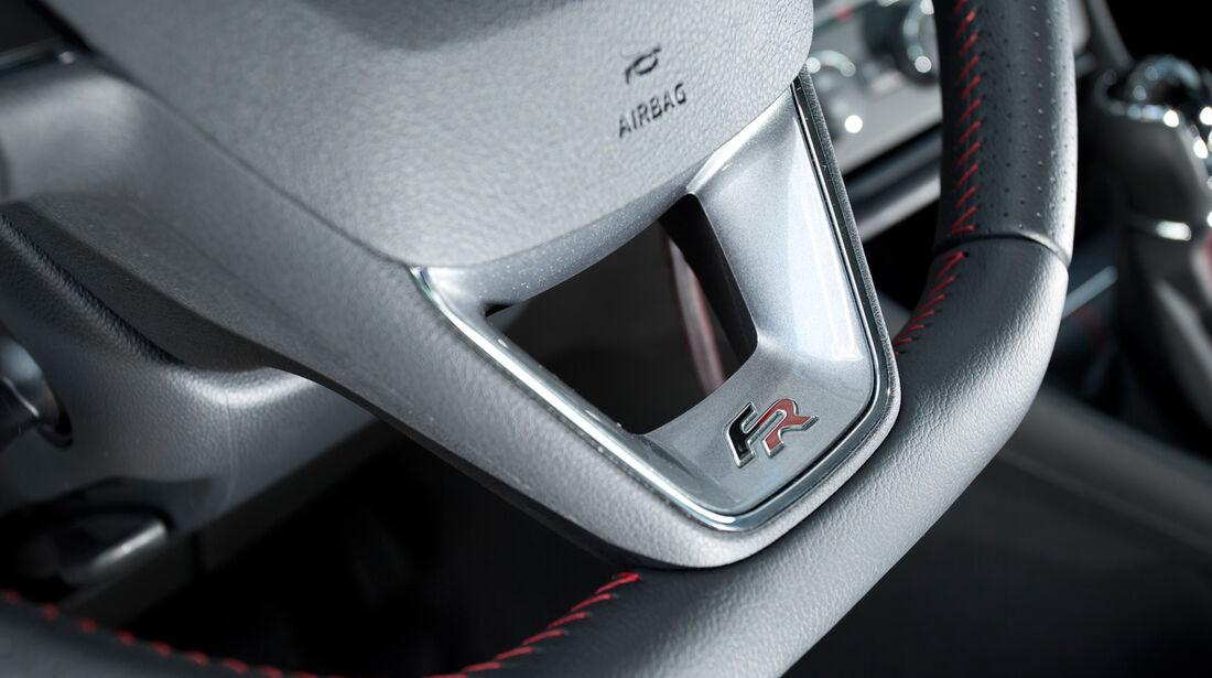Seat Leon 1.4 TSI, Lenkrad, Detail