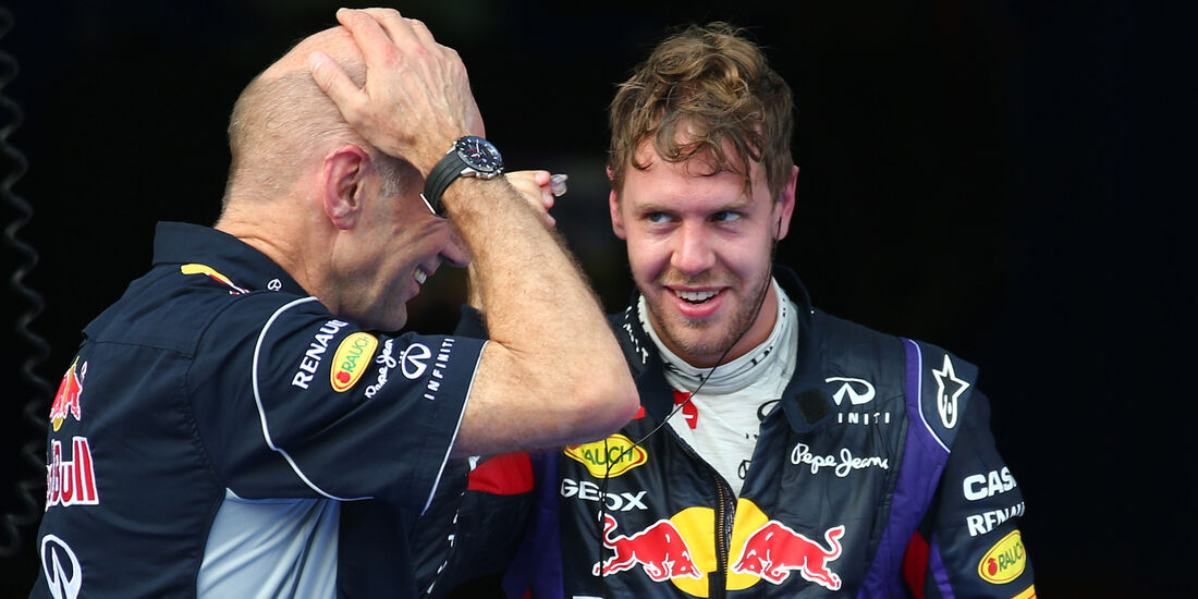 Sebastian Vettel Adrian Newey GP Malaysia 2013
