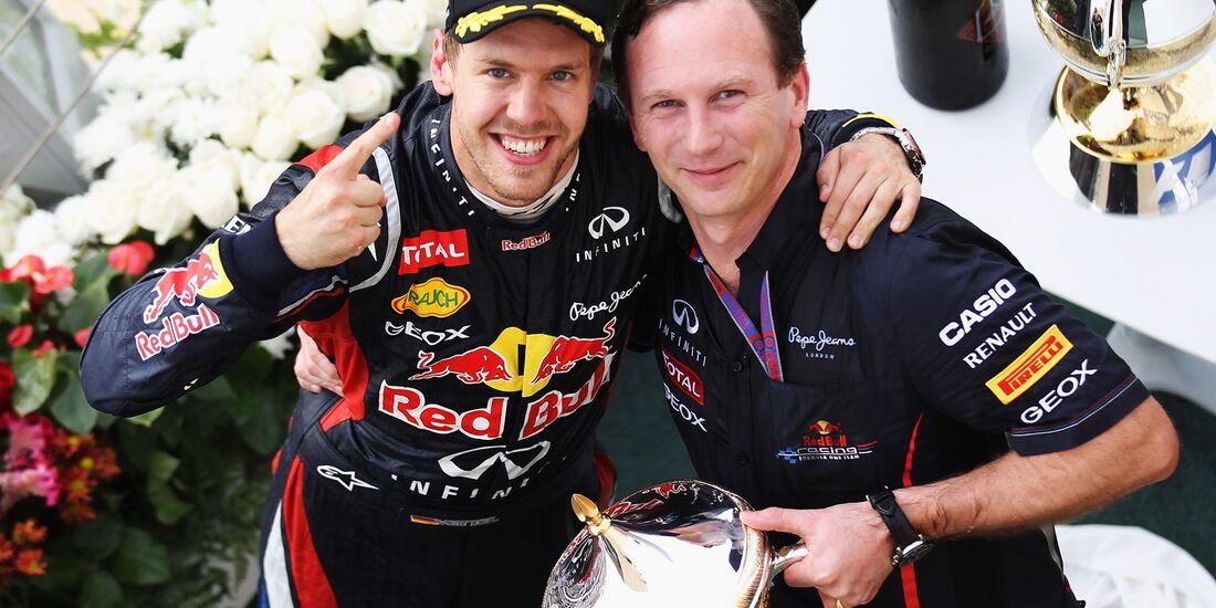 Sebastian Vettel - Christian Horner  - Formel 1 - GP Bahrain - 22. April 2012