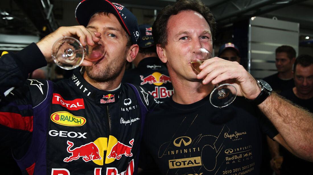 Sebastian Vettel - Christian Horner - Formel 1 - GP Indien - 27. Oktober 2013