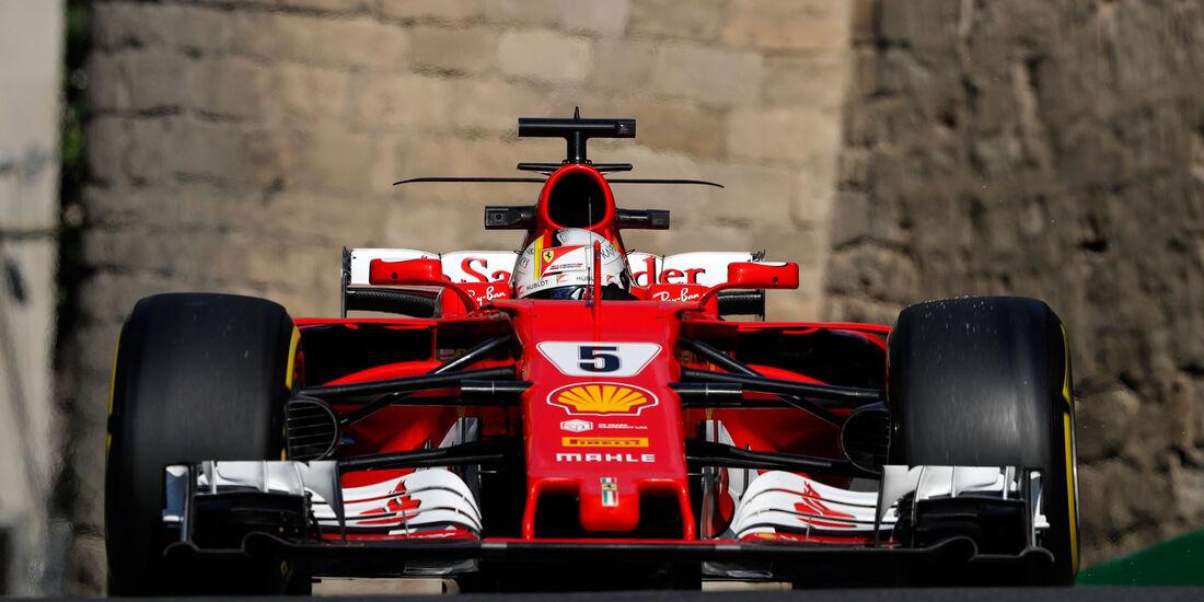 Sebastian Vettel - Ferrari - Formel 1 - GP Aserbaidschan 2017 - Training - Freitag - 23.6.2017