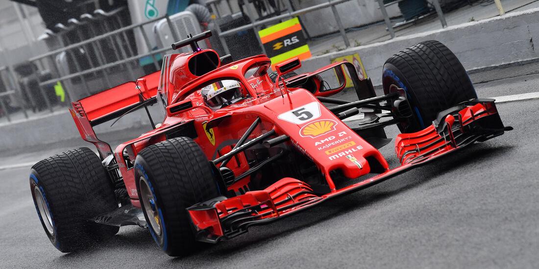 Sebastian Vettel - Ferrari - Formel 1 Test - Barcelona - Tag 4 - 1. März 2018