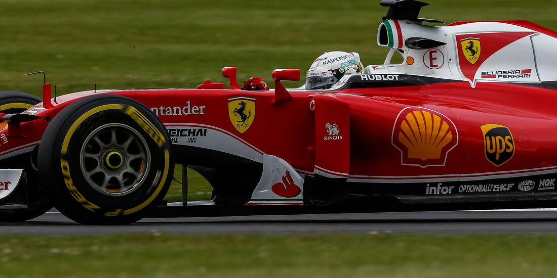 Sebastian Vettel - Ferrari - GP England - Silverstone - Qualifying - Samstag - 9.7.2016