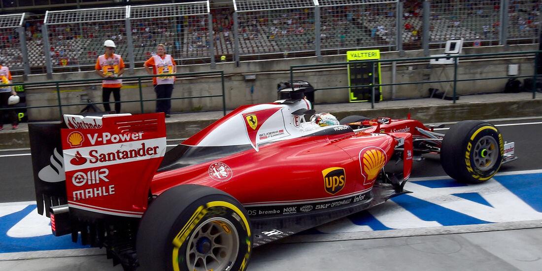 Sebastian Vettel - Ferrari - GP Ungarn - Budapest - Formel 1 - 22. Juli 2016