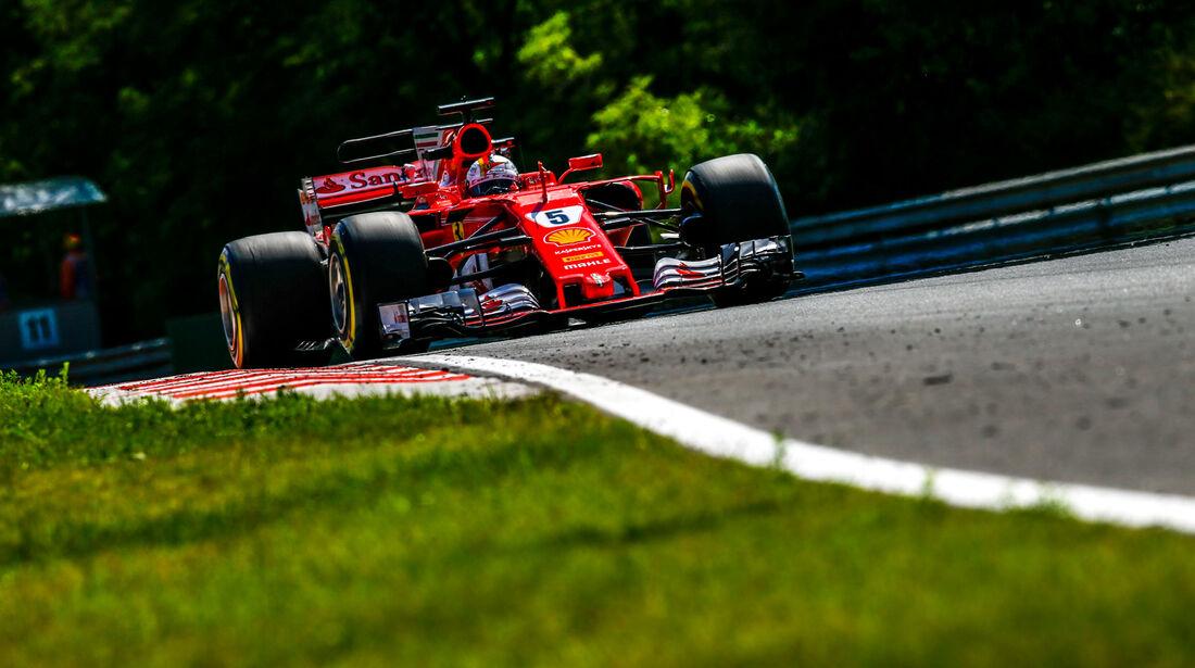 Sebastian Vettel - Ferrari - GP Ungarn - Budapest - Formel 1 - Freitag - 28.7.2017