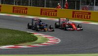 Sebastian Vettel - Ferrrari - Carlos Sainz - Toro Rosso - GP Spanien 2016 - Barcelona - Sonntag - 15.5.2016