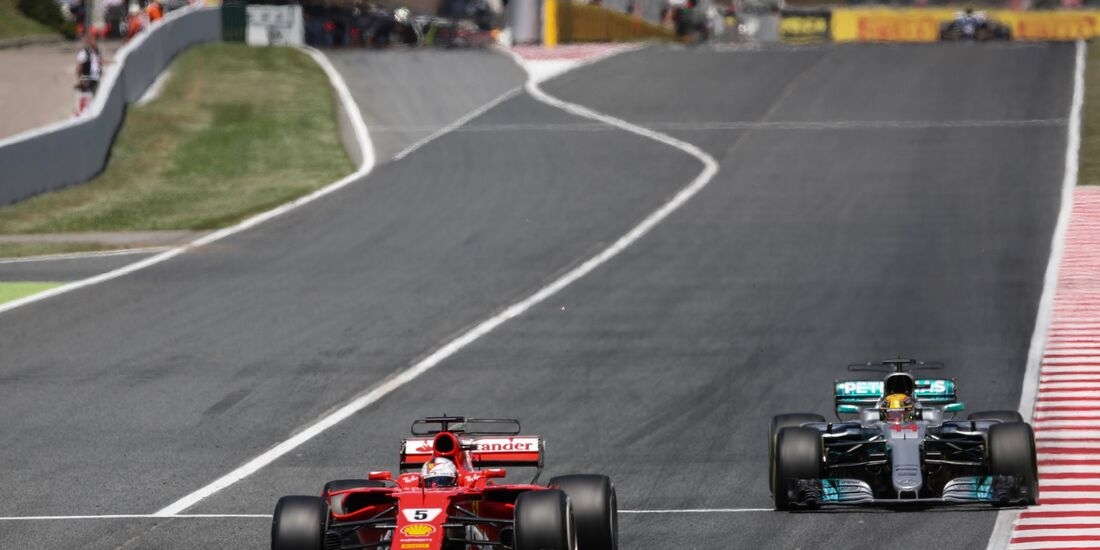 Sebastian Vettel - Lewis Hamilton - Formel 1 - GP Spanien - 14. Mai 2017
