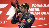 Sebastian Vettel - Red Bull - Formel 1 - GP Indien - 27. Oktober 2013