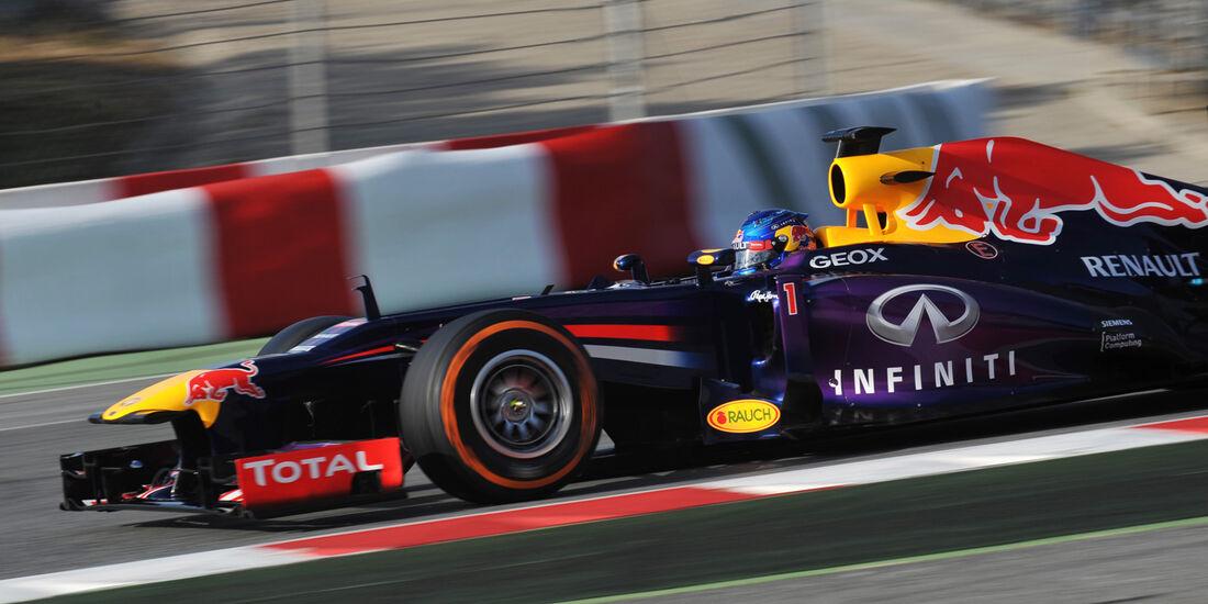 Sebastian Vettel - Red Bull - Formel 1 - Test - Barcelona - 3. März 2013