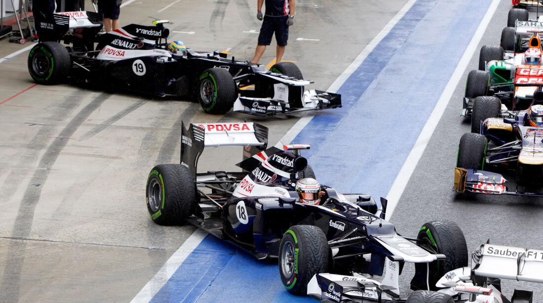 Senna Maldonado Williams GP England 2012