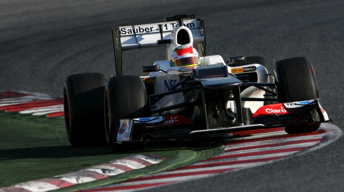 Sergio Perez Barcelona F1-Test 2012