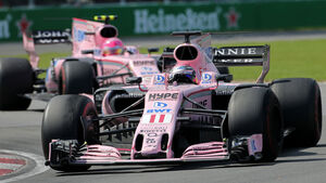 Sergio Perez - Esteban Ocon - Force India - GP Kanada 2017 - Rennen