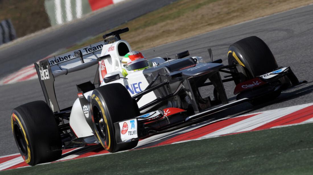 Sergio Perez - F1-Test Barcelona 2012