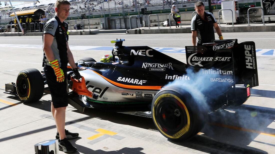 Sergio Perez - Force India - Formel 1 - Austin - GP USA - 22. Oktober 2016