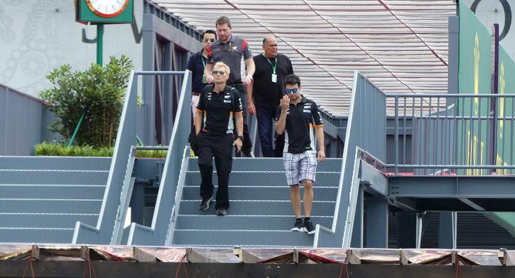 Sergio Perez - Force India - Formel 1 - GP Aserbaidschan 2017 - Baku - Donnerstag - 22.6.2017