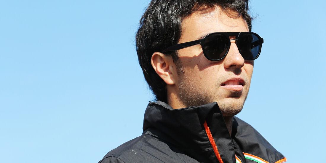 Sergio Perez - Force India - Formel 1 - GP Belgien - Spa-Francorchamps - 21. August 2014