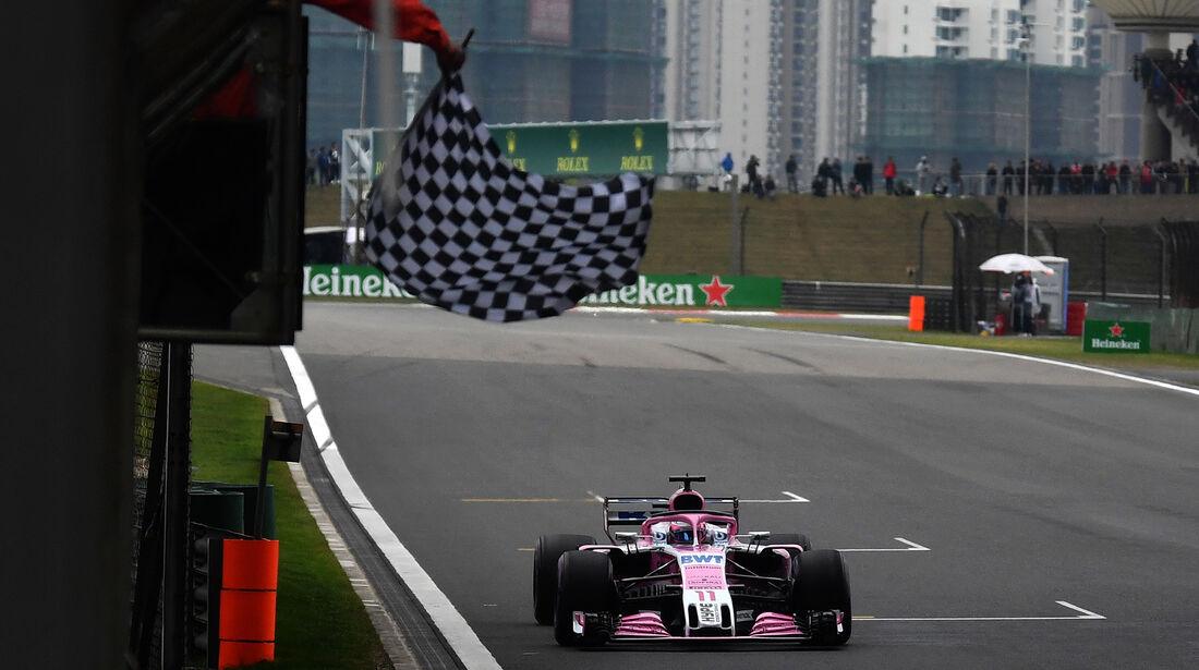 Sergio Perez - Force India - Formel 1 - GP China - Shanghai - 14. April 2018