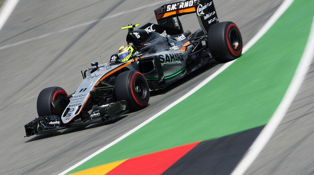 Sergio Perez - Force India  - Formel 1 - GP Deutschland - 30. Juli 2016