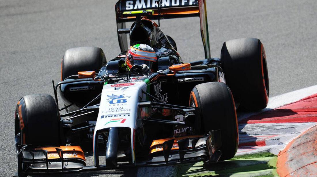Sergio Perez - Force India - Formel 1 - GP Italien - 6. September 2014