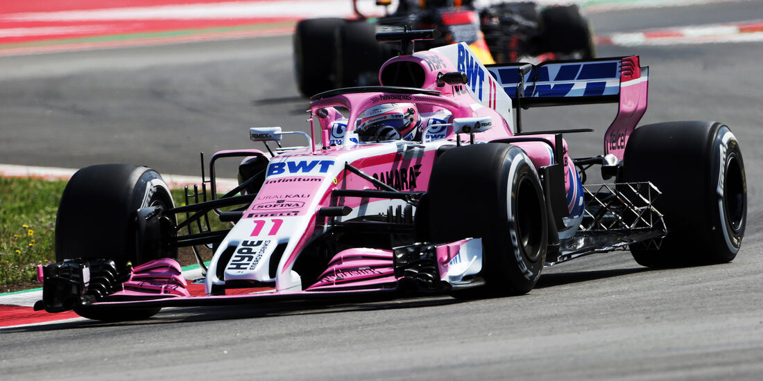 Sergio Perez - Force India - Formel 1 - GP Spanien - Barcelona - 11. Mai 2018